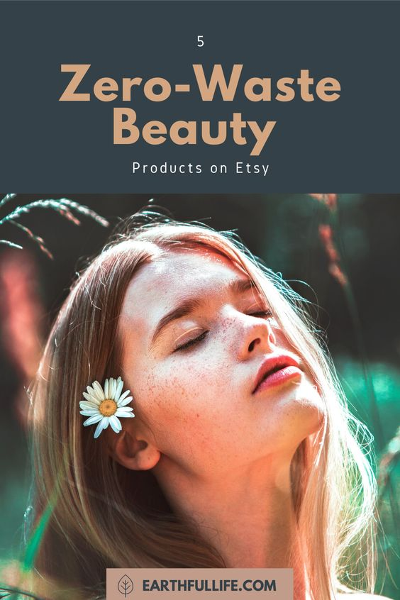 zero waste beauty products pin