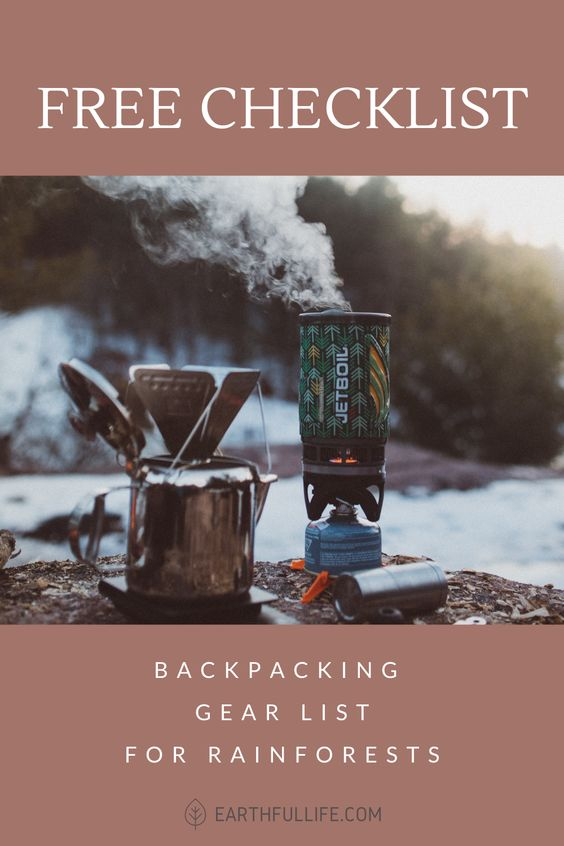 backpacking checklist essentials pin