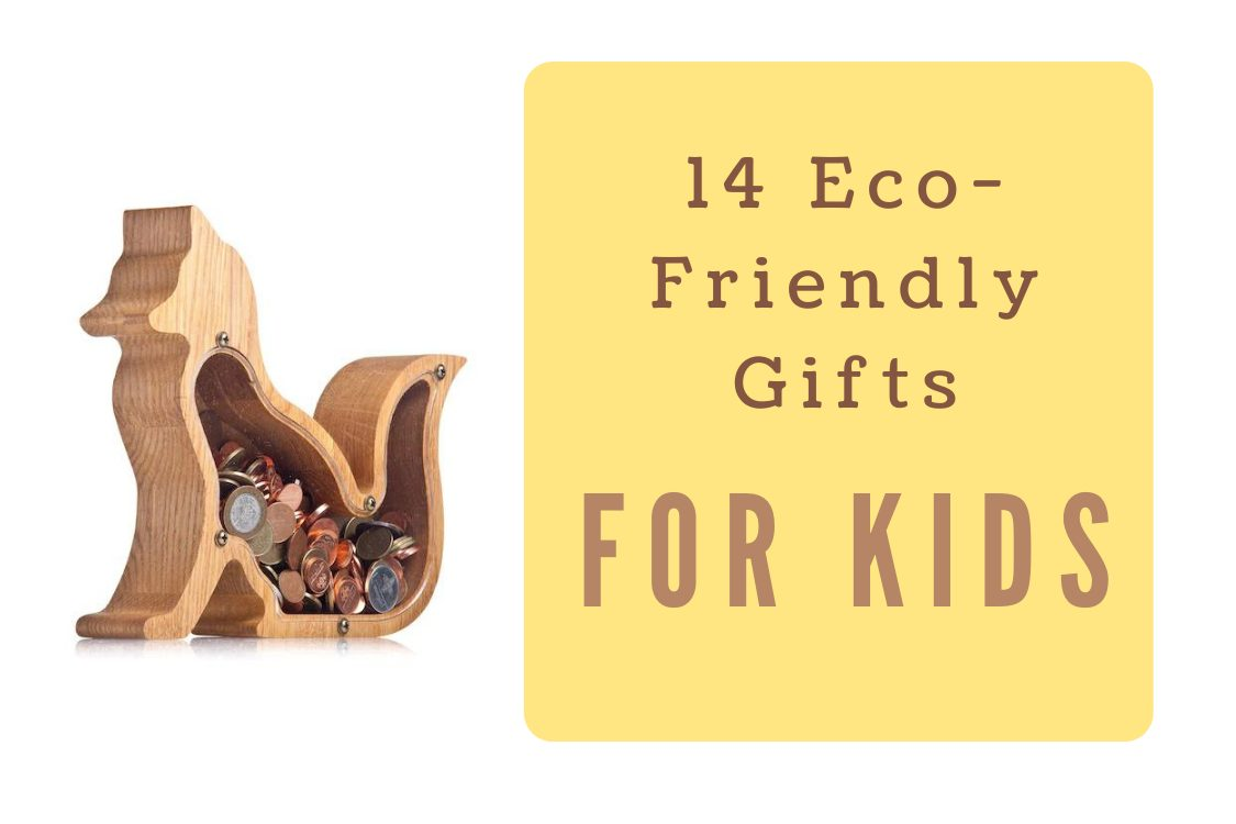 wooden coin bank and eco-friendly gifts for kids