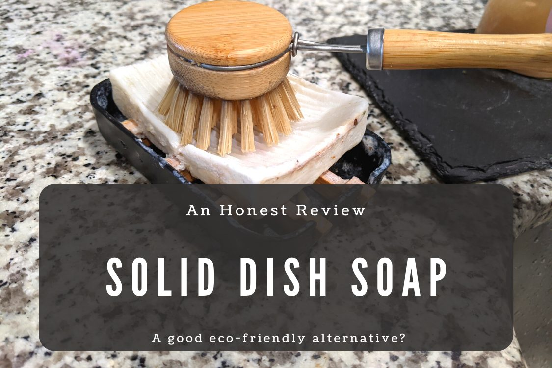 solid dish soap and bamboo brush